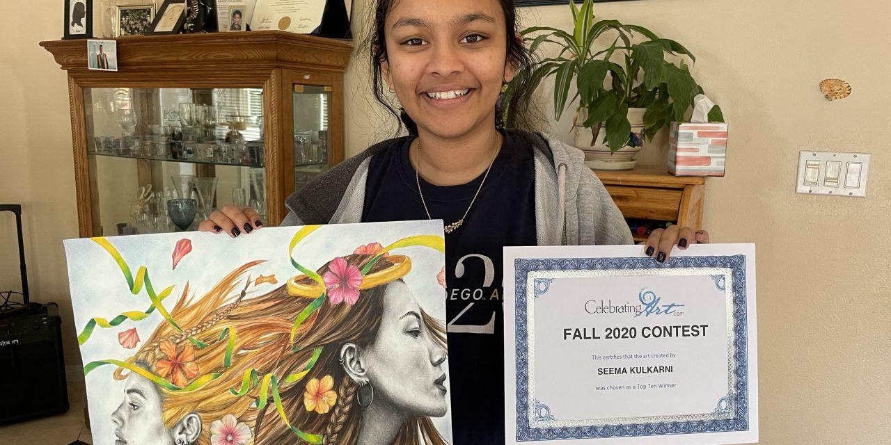 "Top 10 Winner 2020 fall ""Celebrating Art"" Seema K"